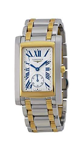 Longines Dolce Vita Stainless Steel & 18k Gold Mens Luxury Watch Silver Dial L56555707
