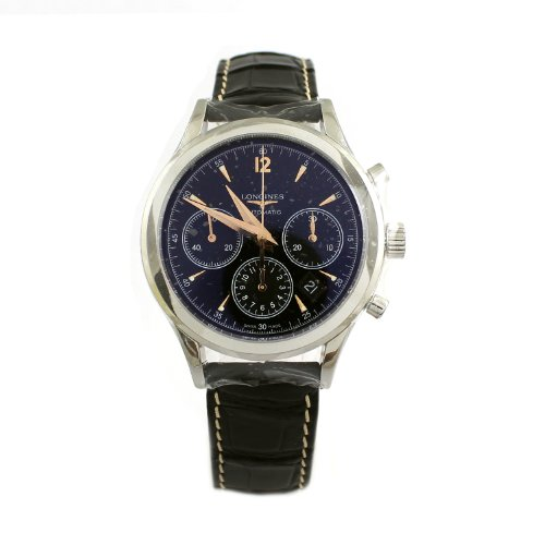 Longines Heritage Chronograph Automatic Stainless Steel Mens Strap Watch L2 750 4 56 0