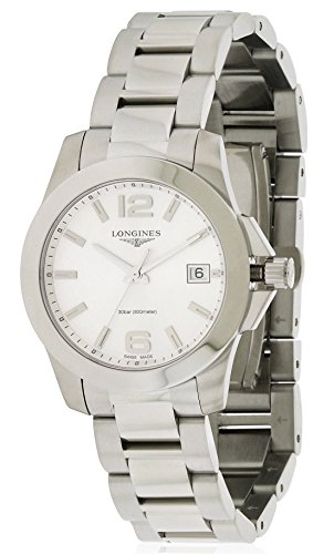Longines Armband Edelstahl Gehaeuse Quarz Zifferblatt Silber Chronograph L33774766