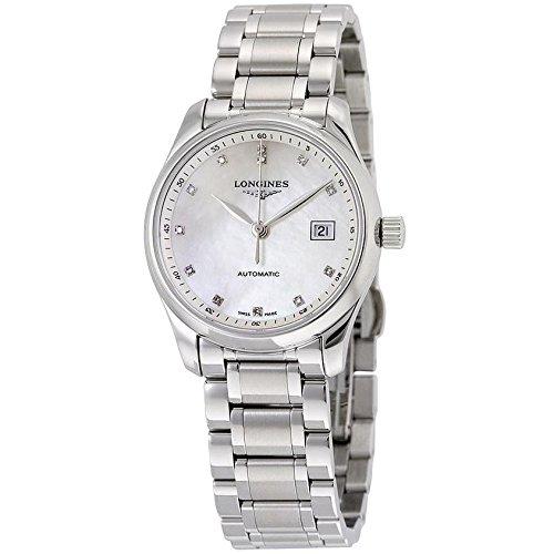 Longines Damen Armbanduhr Armband Edelstahl Gehaeuse Automatik Zifferblatt Perlmutt Analog L22574876