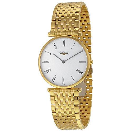 Longines Damen Armbanduhr Armband Goldfarbenes Edelstahl Gehaeuse Schweizer Quarz Analog L47552118