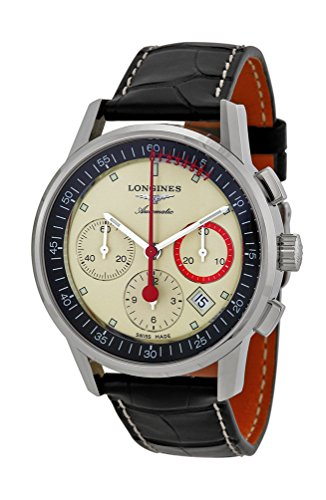Longines Heritage Column Wheel Chronograph Record Automatic Mens Watch L4 754 4 72 4