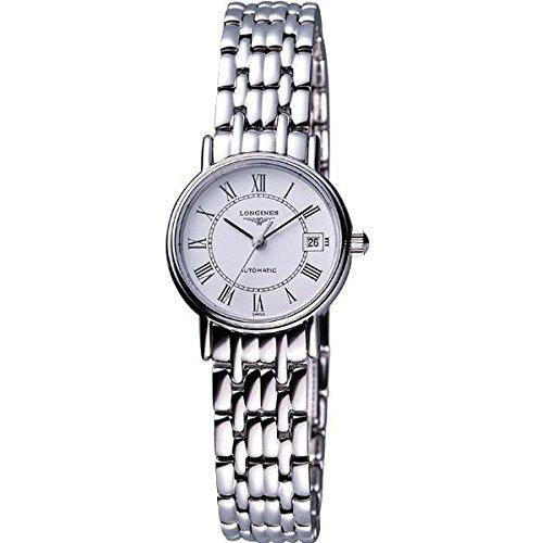 Longines Presence Damen Silber delstahl Armband Gehaeuse Datum Uhr L43214116