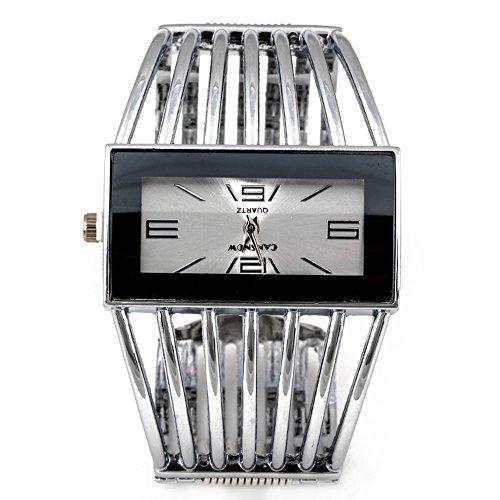 SSITG Spangenuhr Strass Armkette Armreif Uhr Quarzuhr gold silber Wrist Watch montre de