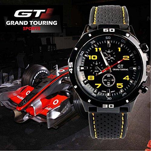 Zeigt Quarz Nadel Sport GT Racing Mann und Kind Silikon