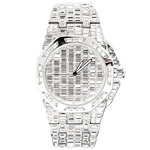 High Quality FULL ICED OUT CZ Uhr CIAO silber