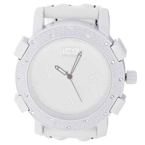 Iced Out Bling Fashion Uhr KRUSHED weiss schwarz