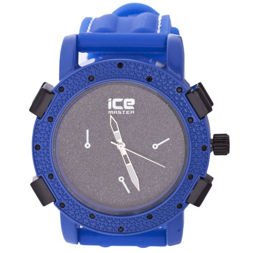 Iced Out Bling Fashion Uhr KRUSHED blau