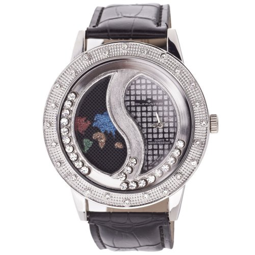 Iced Out Bling Fashion Uhr SHANGHAI Floating Style silber