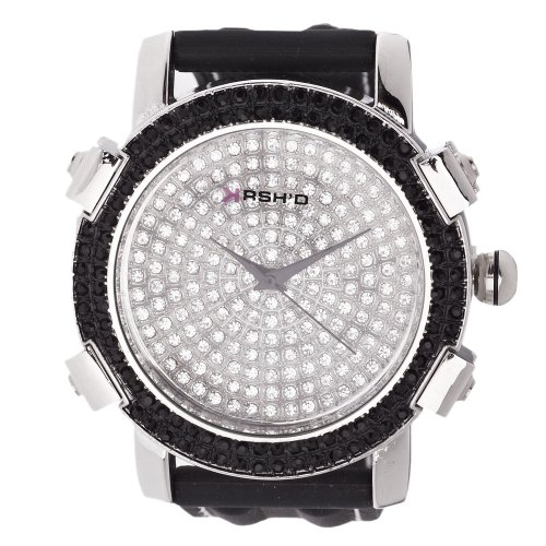 Iced Out Bling Fashion Uhr KRUSHED silber
