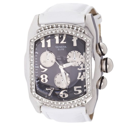 Iced Out Bling Lupah Uhr weiss schwarz