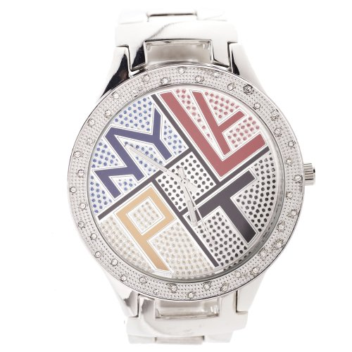 Iced Out Bling WORLDWIDE Metal Uhr silber multi