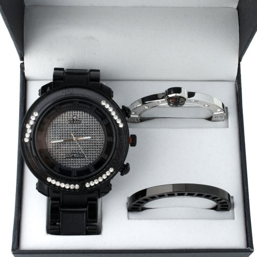 Iced Out Uhr Set Box METAL KING schwarz