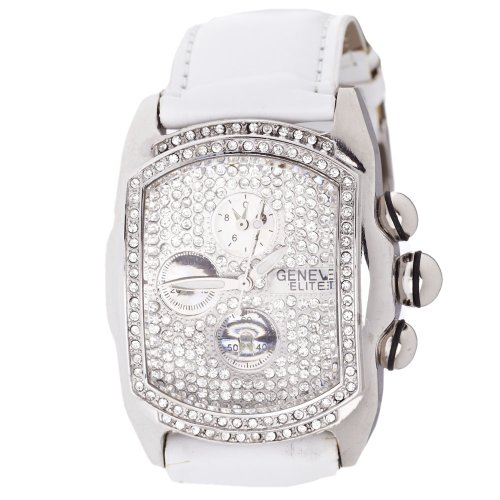 Lupah Style Bling Uhr weiss iced