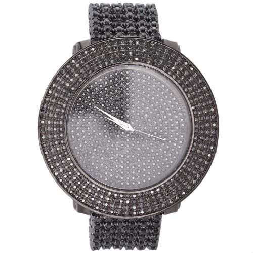 High Quality FULL ICED OUT CASE Uhr - schwarz
