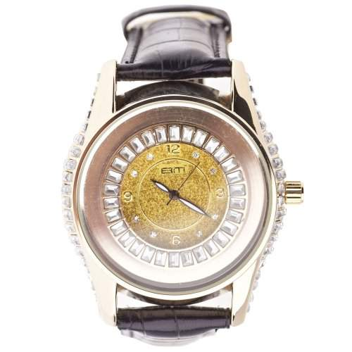 Iced Out Bling Designer Fashion Uhr - Baguette Cut gold