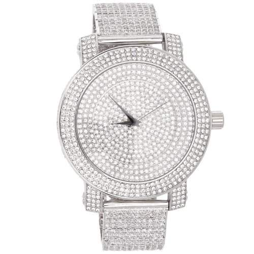 High Quality FULL ICED OUT CZ Uhr - MASTERPIECE silber