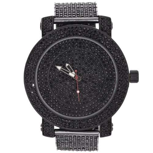 High Quality FULL ICED OUT CZ Uhr - MASTERPIECE schwarz