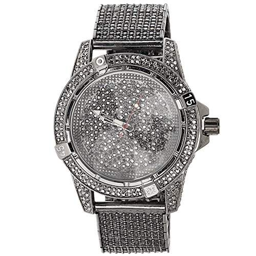 High Quality FULL ICED OUT CZ Uhr - MASTERBLING schwarz