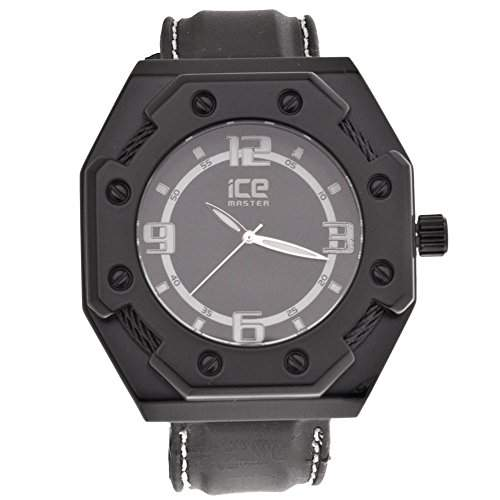 Iced Out Bling Silikon XXL Uhr - CABLE CASE schwarz