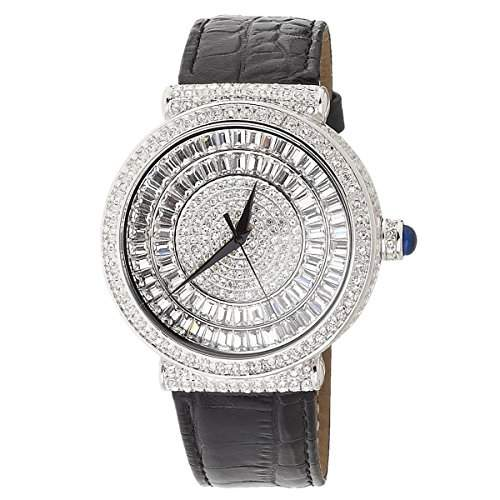 High Quality Bling Master FULL ICED OUT INFINITO Uhr silber