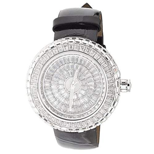 High Quality Bling Damen FULL ICED OUT ORBIT Uhr silber
