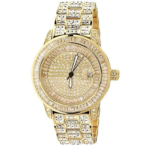 High Quality FULL ICED OUT CZ Uhr - ROYAL gold