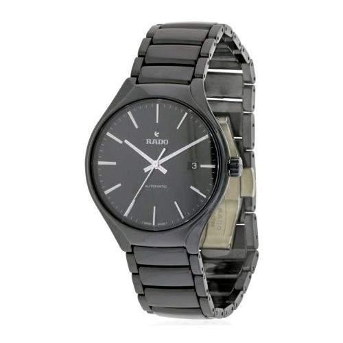 Rado True Herren 401mm Automatikwerk Schwarz Keramik Armband Uhr R27056152