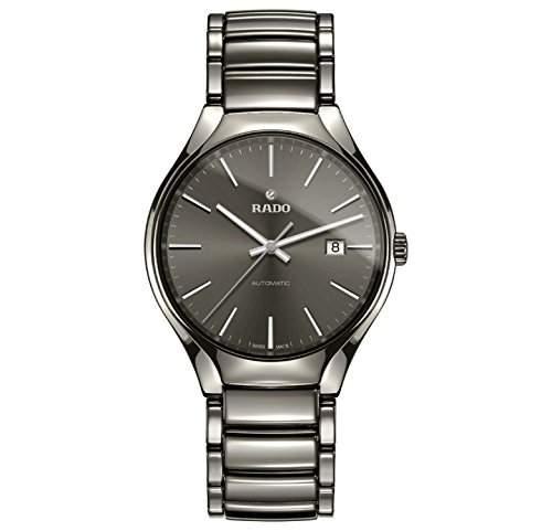 Rado True Herren 401mm Automatikwerk Silber Keramik Armband Datum Uhr R27057102