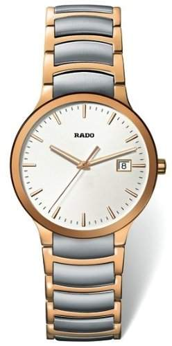 Rado Centrix Herren 38mm Edelstahl Armband & Gehaeuse Mineral Glas Uhr R30554103
