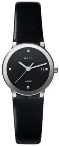 Rado Damen-Armbanduhr analog Kalbsleder Schwarz R30928715