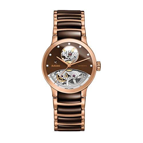 Rado Centrix Open Heart Diamant 33mm Armband Keramik Zwei Ton Automatik Analog R30248712