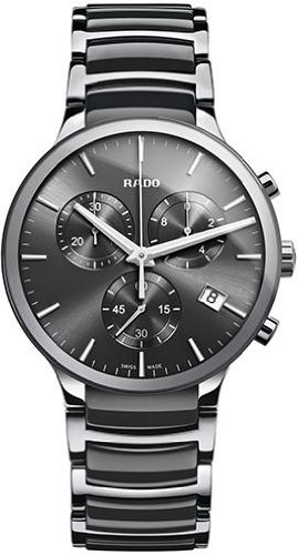 Rado Herren 44mm Chronograph Grau Keramik Armband Saphirglas Datum Uhr R30122122