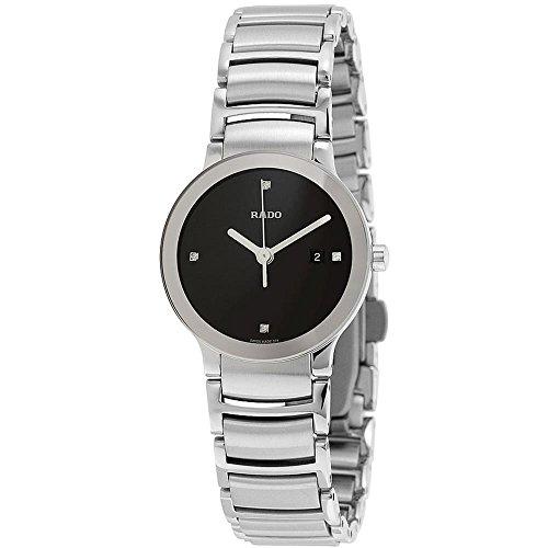 Rado Centrix Damen Armbanduhr Diamant 28mm Armband Edelstahl Gehaeuse Saphirglas Batterie R30928713