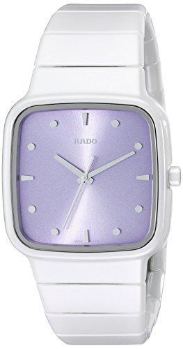Rado R5 5 Damen Armbanduhr 36mm Armband Keramik Weiss Gehaeuse Schweizer Quarz Zifferblatt Rosa R28382342