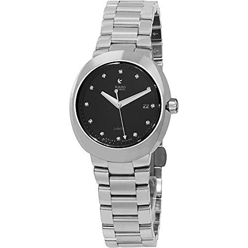 Rado Damen Diamanten 30mm Silber delstahl Armband Gehaeuse Datum Uhr R15947703