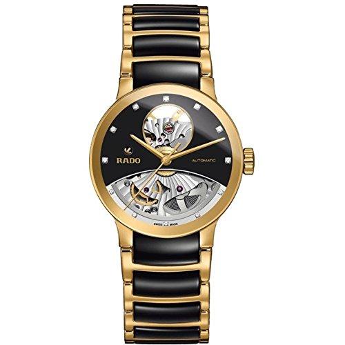 Rado Herren Armbanduhr 33mm Armband Keramik Gehaeuse Gold beschichtetes Edelstahl Automatik R30246712