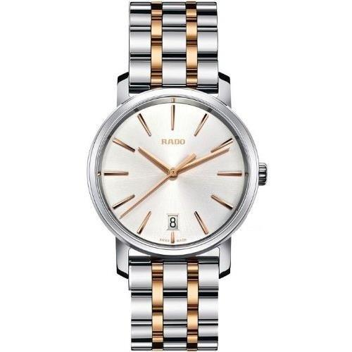 Rado r14089103 Armbanduhr Diamaster Damen Silber Zifferblatt Edelstahl Stahl Fall Quarz Uhrwerk