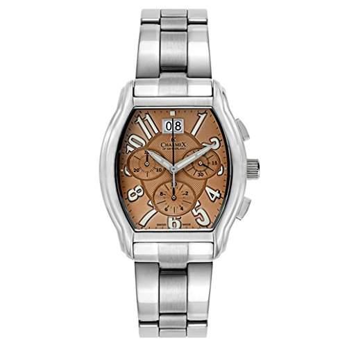 Charmex Ermitage Herren Chronograph Silber Edelstahl Armband & Gehaeuse Uhr 1718