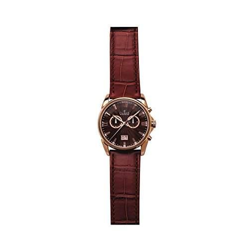 Charmex Geneva Herren 42mm Chronograph Braun Leder Armband Datum Uhr 2662