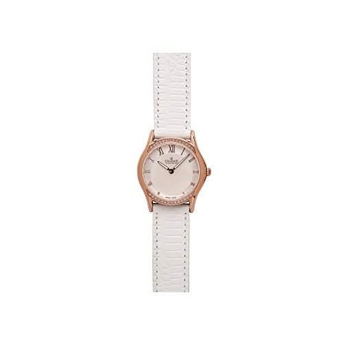 Charmex Cannes Damen 30mm Weiss Leder Armband Edelstahl Gehaeuse Uhr 6325