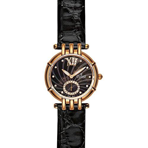 Charmex Pisa Damen 31mm Schwarz Leder Armband Uhr 6127
