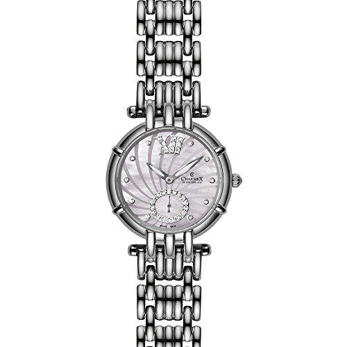 Charmex Pisa Damen 31mm Silber delstahl Armband Gehaeuse Uhr 6140