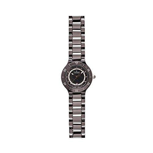 Charmex San Remo Damen 43mm Schwarz Keramik Armband Keramik Gehaeuse Uhr 6321