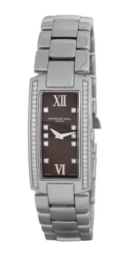 Raymond Weil Watches Damen-Armbanduhr Shine Analog Quarz Leder 1500-ST1-00775