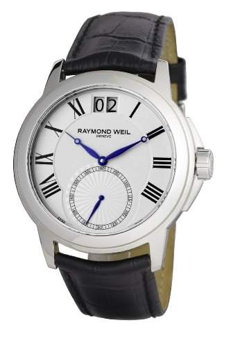 Raymond Weil Watches Herren-Armbanduhr XL Tradition Analog Quarz Leder 9578-STC-00300