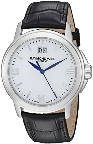 RAYMOND WEIL TRADITION MENS STAINLESS STEEL CASE DATE UHR 5576 ST 00307