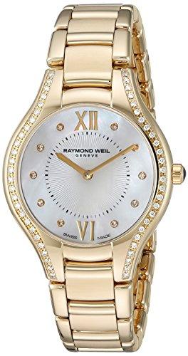 Raymond Weil Damen Armbanduhr 27mm Armband Edelstahl Gold Gehaeuse Schweizer Quarz Analog 5132 PS 00985