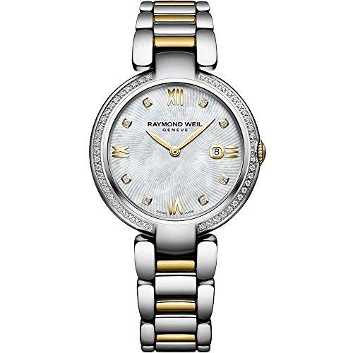Raymond Weil Shine Damen Armbanduhr Diamant 32mm Armband Zweifaerbiger Edelstahl Quarz 1600 SPS 00995