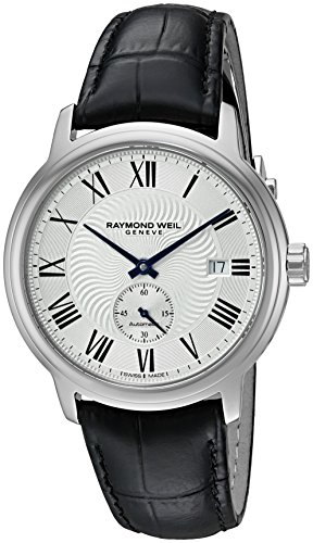 Raymond Weil 40mm Armband Kalbsleder Schwarz Schweizer Automatik Analog 2238 STC 00659